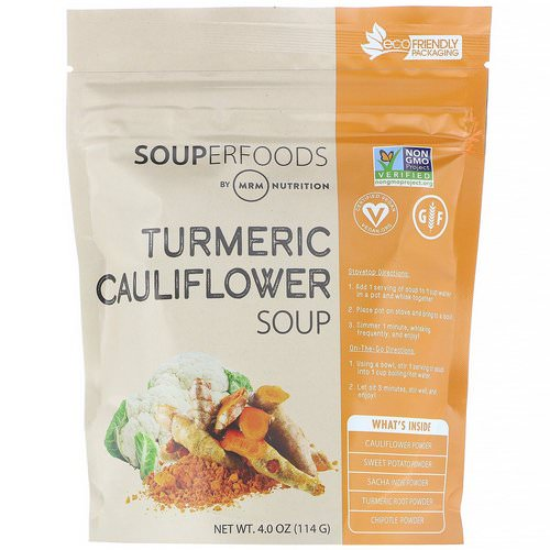 MRM, Souperfoods, Turmeric Cauliflower Soup, 4.0 oz (114 g) Review