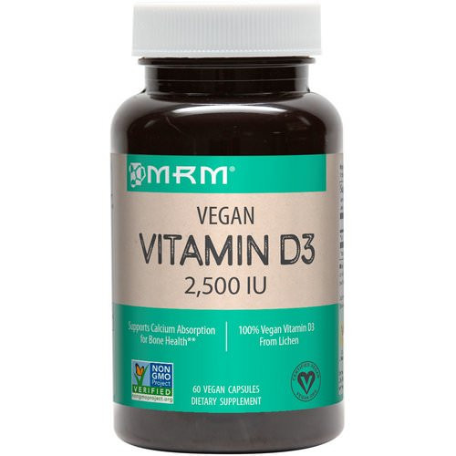 MRM, Vegan Vitamin D3, 2,500 IU, 60 Vegan Capsules Review