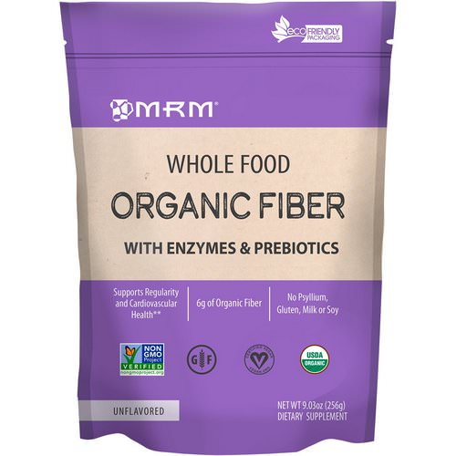 MRM, Whole Food, Organic Fiber with Enzymes and Prebiotics, Unflavored, 9.3 oz (256 g) Review