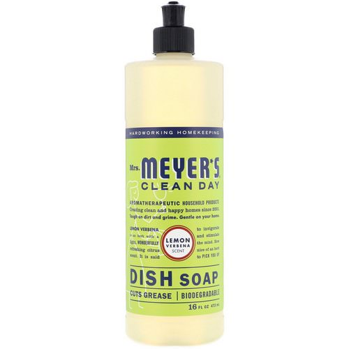 Mrs. Meyers Clean Day, Dish Soap, Lemon Verbena Scent, 16 fl oz (473 ml) Review