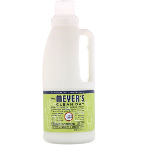Mrs. Meyers Clean Day, Fabric Softener, Lemon Verbena Scent, 32 fl oz (946 ml) Review