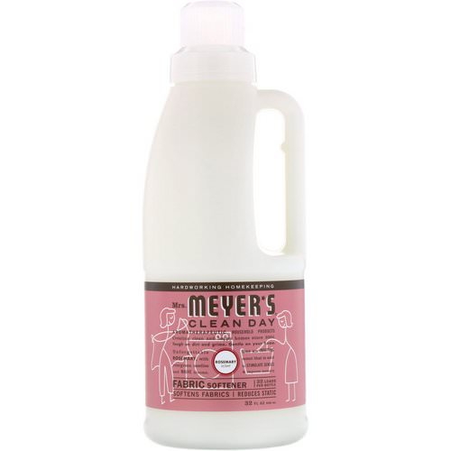 Mrs. Meyers Clean Day, Fabric Softener, Rosemary Scent, 32 fl oz (946 ml) Review