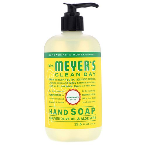 Mrs. Meyers Clean Day, Hand Soap, Honeysuckle Scent, 12.5 fl oz (370 ml) Review