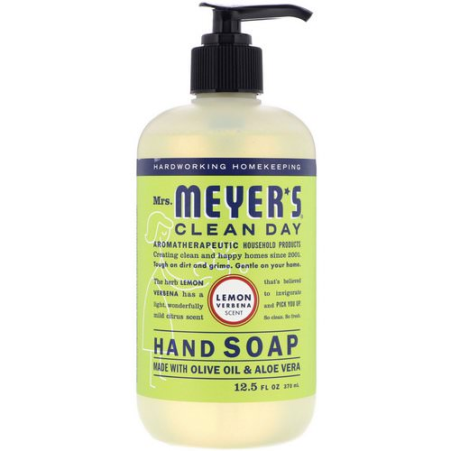Mrs. Meyers Clean Day, Hand Soap, Lemon Verbena Scent, 12.5 fl oz (370 ml) Review