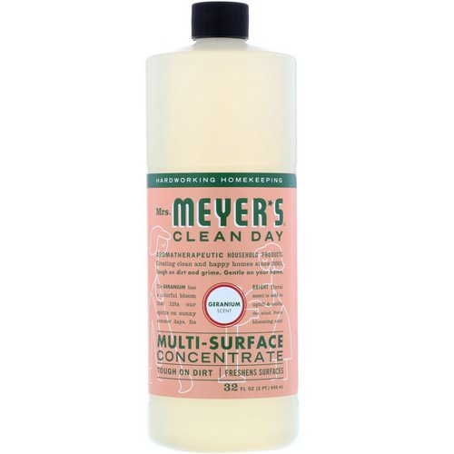 Mrs. Meyers Clean Day, Multi-Surface Concentrate, Geranium, 32 fl oz (946 ml) Review