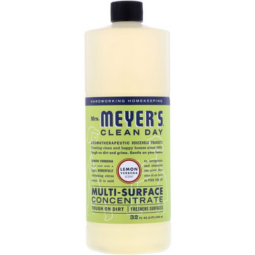 Mrs. Meyers Clean Day, Multi-Surface Concentrate, Lemon Verbena Scent, 32 fl oz (946 ml) Review