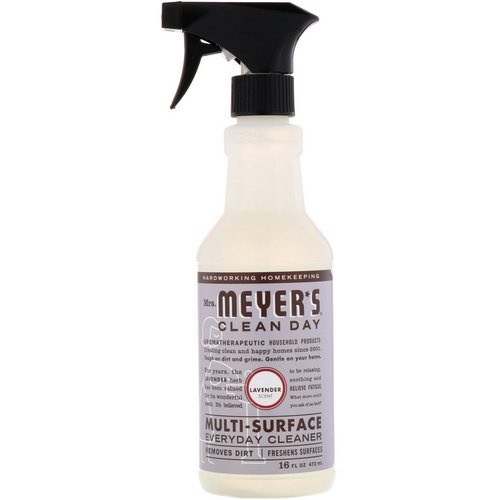 Mrs. Meyers Clean Day, Multi-Surface Everyday Cleaner, Lavender Scent, 16 fl oz (473 ml) Review
