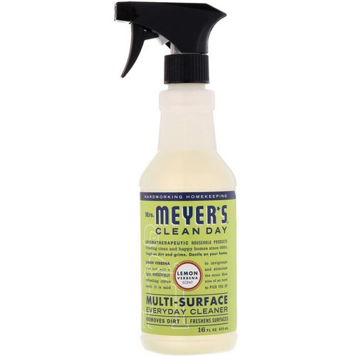Mrs. Meyers Clean Day, Multi-Surface Everyday Cleaner, Lemon Verbena Scent, 16 fl oz (473 ml) Review