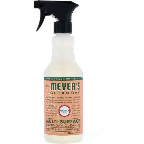 Mrs. Meyers Clean Day, Muti-Surface Everyday Cleaner, Geranium Scent, 16 fl oz (473 ml) Review