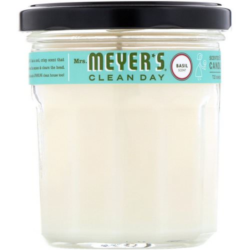 Mrs. Meyers Clean Day, Scented Soy Candle, Basil Scent, 7.2 oz Review