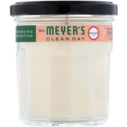 Mrs. Meyers Clean Day, Scented Soy Candle, Geranium Scent, 7.2 oz Review