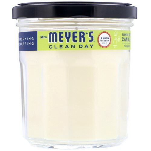 Mrs. Meyers Clean Day, Scented Soy Candle, Lemon Verbena Scent, 7.2 oz (204 g) Review