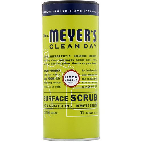 Mrs. Meyers Clean Day, Surface Scrub, Lemon Verbena Scent, 11 oz (311g) Review