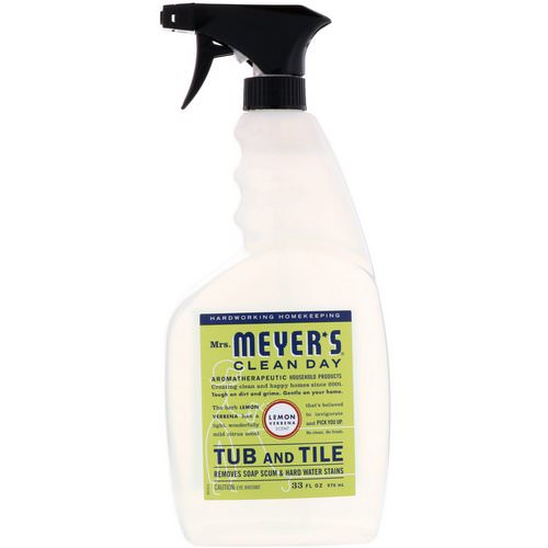 Mrs. Meyers Clean Day, Tub and Tile, Lemon Verbena Scent, 33 fl oz (976 ml) Review