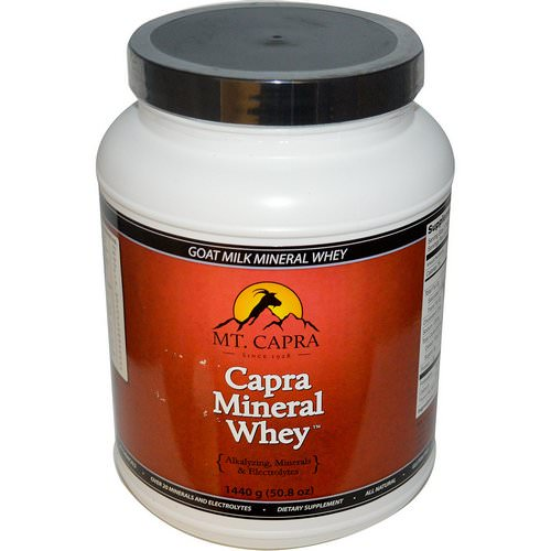 Mt. Capra, Capra Mineral Whey, 3.17 lbs (1440 g) Review