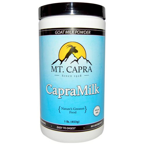 Mt. Capra, CapraMilk, Goat Milk Powder, 1 lb (453 g) Review