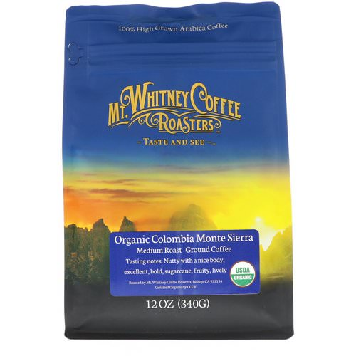 Mt. Whitney Coffee Roasters, Organic Colombia Monte Sierra, Medium Roast Ground Coffee, 12 oz (340 g) Review