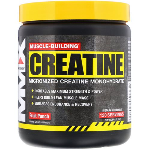 MuscleMaxx, Muscle Building Creatine, Fruit Punch, 9.3 oz (264 g) Review