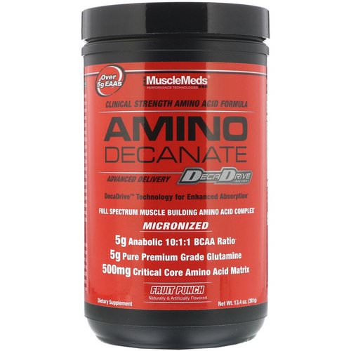 MuscleMeds, Amino Decanate, Fruit Punch, 13.4 oz (381 g) Review