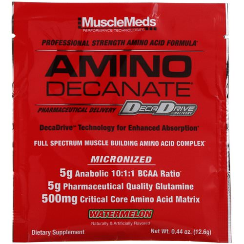 MuscleMeds, Amino Decanate, Watermelon, 0.44 oz (12.6 g) Review