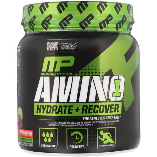 MusclePharm, Amino 1, Hydrate + Recover, Cherry Limeade, 15.24 oz (432 g) Review