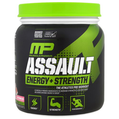 MusclePharm, Assault Energy + Strength, Pre-Workout, Watermelon, 12.17 oz (345 g) Review