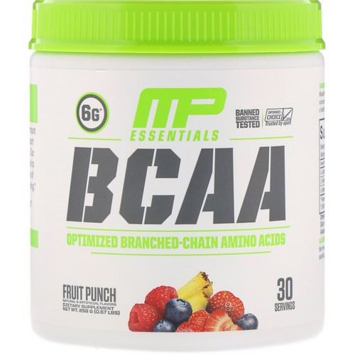 MusclePharm, BCAA Essentials, Fruit Punch, 0.57 lbs (258 g) Review