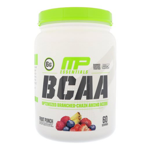 MusclePharm, BCAA Essentials, Fruit Punch, 1.14 lbs (516 g) Review