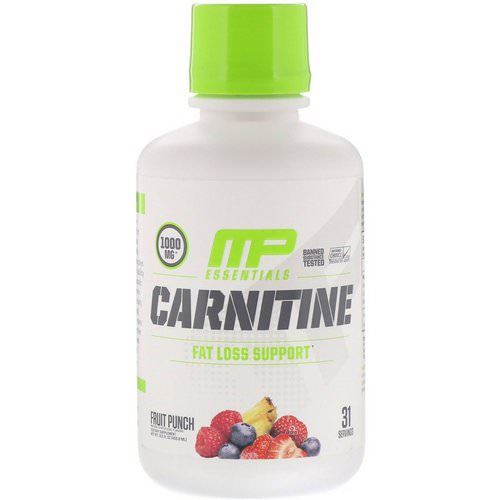 MusclePharm, Carnitine, Fat Loss Support, Fruit Punch, 1000 mg, 15.5 fl oz (458.8 ml) Review