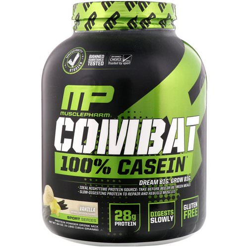 MusclePharm, Combat 100% Casein, Vanilla, 4 lbs (1814 g) Review
