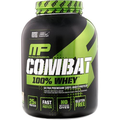 MusclePharm, Combat 100% Whey Protein, Vanilla, 5 lbs (2269 g) Review