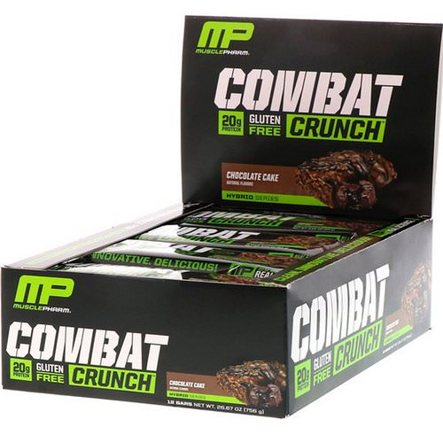 MusclePharm, Combat Crunch, Chocolate Cake, 12 Bars, 2.22 oz (63 g) Each Review