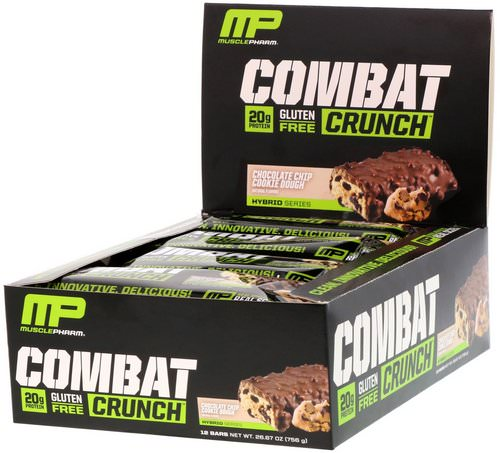MusclePharm, Combat Crunch, Chocolate Chip Cookie Dough, 12 Bars, 63 g Each Review