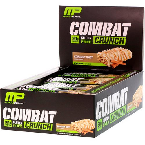 MusclePharm, Combat Crunch, Cinnamon Twist, 12 Bars, 63 g Each Review