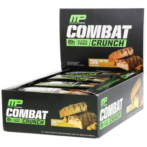 MusclePharm, Combat Crunch, Peanut Butter Lovers, 12 Bars, 2.22 oz (63 g) Each Review