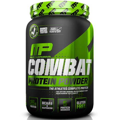 MusclePharm, Combat Protein Powder, Chocolate Milk, 2 lbs (907 g) Review