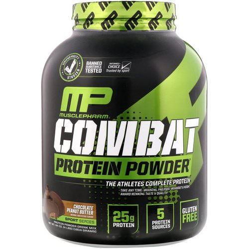 MusclePharm, Combat Protein Powder, Chocolate Peanut Butter, 4 lbs (1814 g) Review