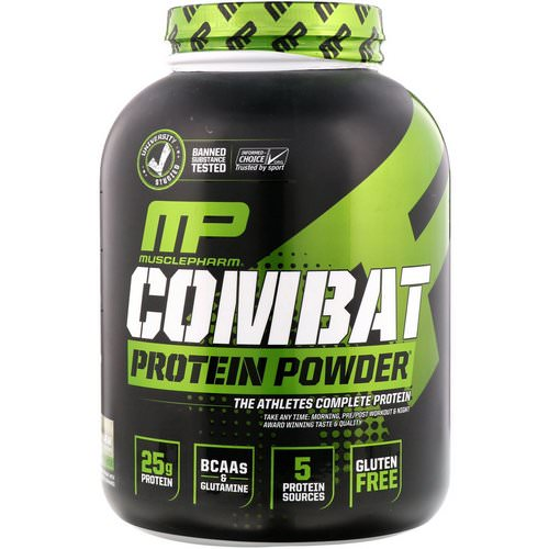MusclePharm, Combat Protein Powder, Cookies 'N' Cream, 5 lbs (2275 g) Review