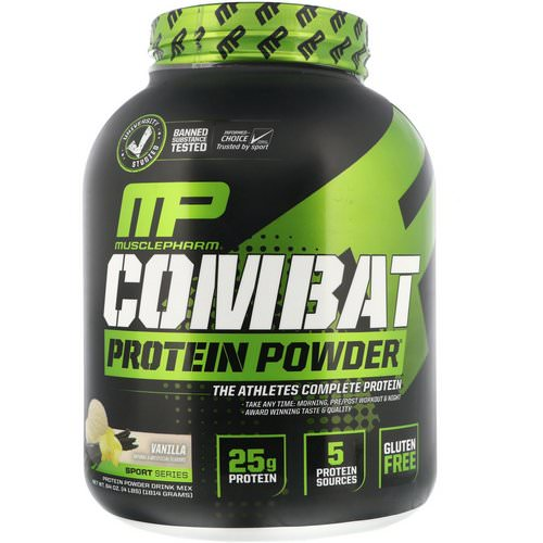 MusclePharm, Combat Protein Powder, Vanilla, 4 lbs (1814 g) Review