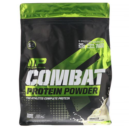 MusclePharm, Combat Protein Powder, Vanilla, 5 lb (2268 g) Review