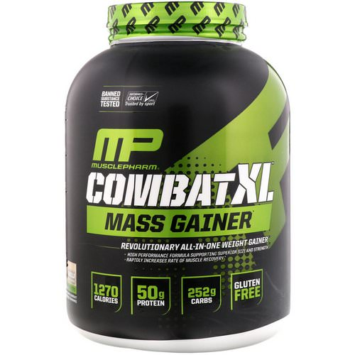 MusclePharm, Combat XL Mass Gainer, Vanilla, 6 lbs (2722 g) Review