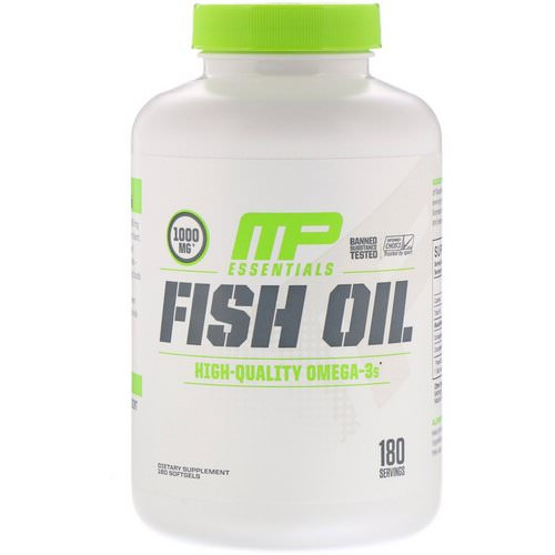 MusclePharm, Essentials, Fish Oil, 180 Softgels Review