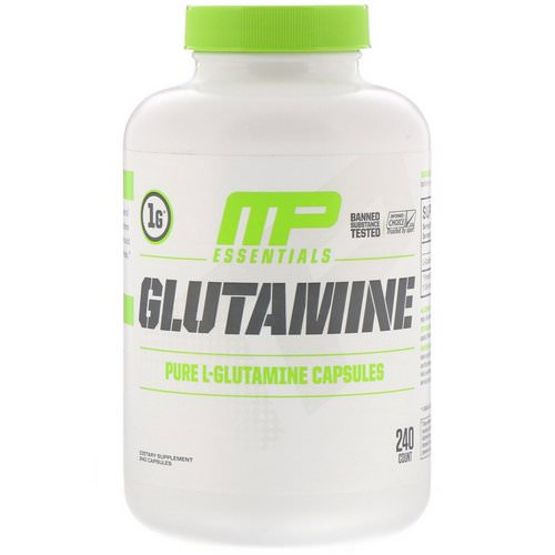 MusclePharm, Glutamine Essentials, 240 Capsules Review