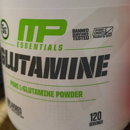 MusclePharm, Glutamine Essentials, Unflavored, 0.66 lb (300 g) Review