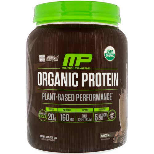 MusclePharm Natural, Organic Protein, Plant-Based, Chocolate, 1.35 lbs (611 g) Review