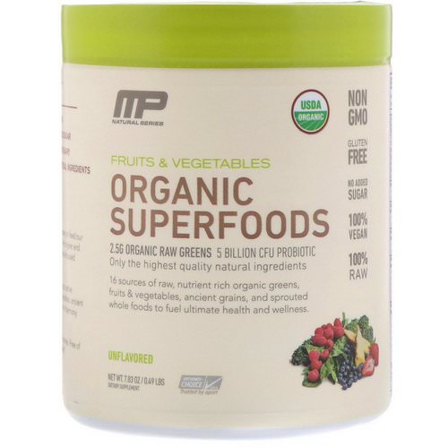 MusclePharm, Organic Superfoods, Unflavored, 7.83 oz Review