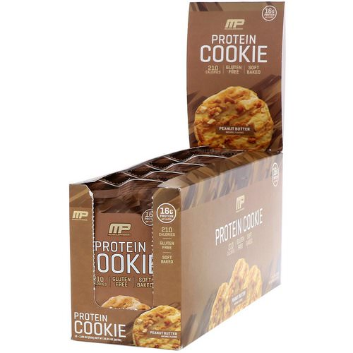MusclePharm, Protein Cookie, Peanut Butter, 12 Cookies, 1.83 oz (52 g) Each Review
