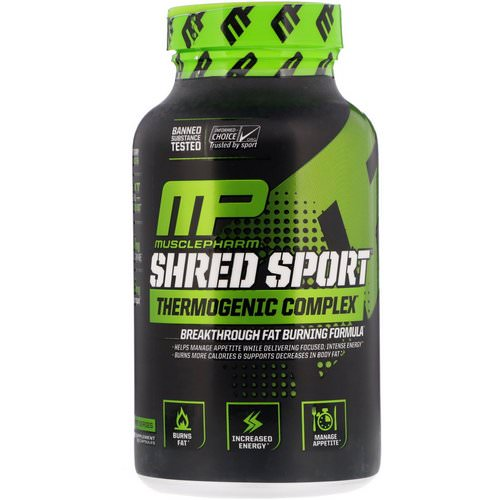 MusclePharm, Shred Sport, Thermogenic Complex, 60 Capsules Review