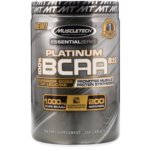 Muscletech, 100% Platinum BCAA 8:1:1, 1,000 mg, 200 Caplets Review