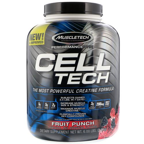 Muscletech, Cell Tech, The Most Powerful Creatine Formula, Fruit Punch, 6.00 lb (2.72 kg) Review